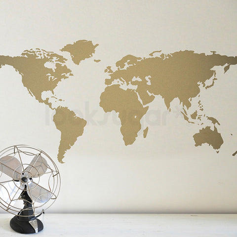 Decals maps looksugar world map wall decal gumiabroncs Choice Image