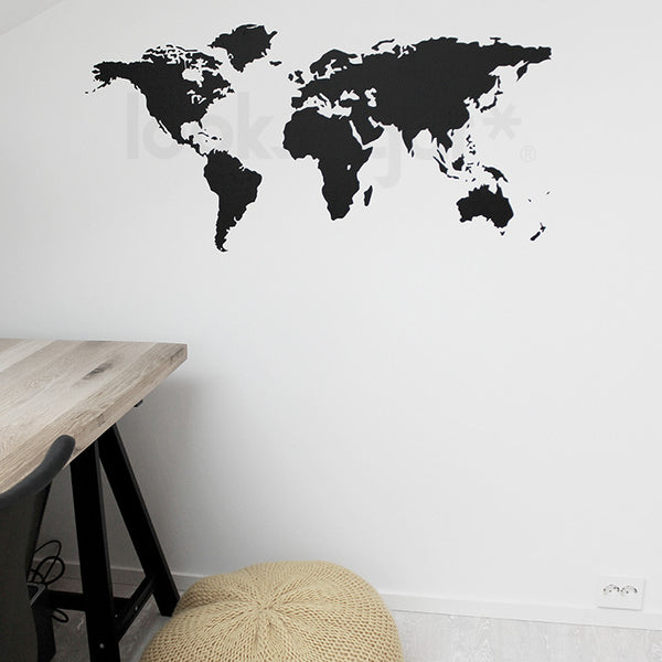 World map wall decal looksugar world map wall decal gumiabroncs Gallery