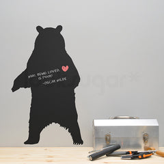 GRIZZLY BEAR CHALKBOARD DECAL / DRY ERASE
