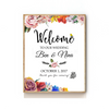 PEONIES FLORAL WEDDING WELCOME SIGN