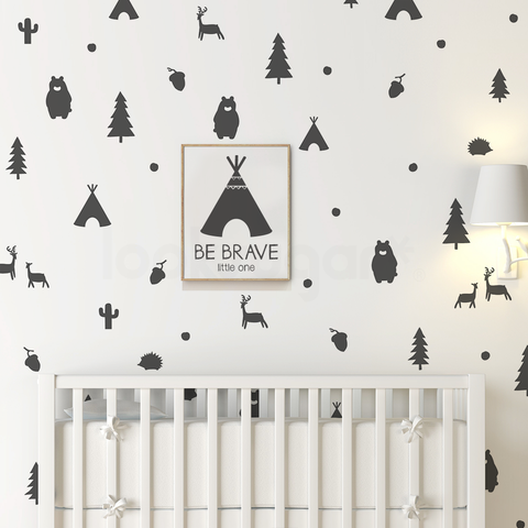 WOODLAND ANIMAL PATTERN STICKERS