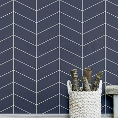 HERRINGBONE LINE FABRIC WALLPAPER