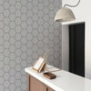 GEOMETRIC HEXAGON FABRIC WALLPAPER - PEEL & STICK