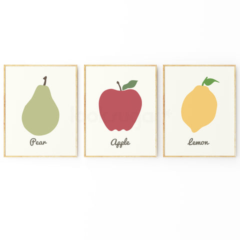 FRUIT ART PRINT COLLECTION - SET OF 3