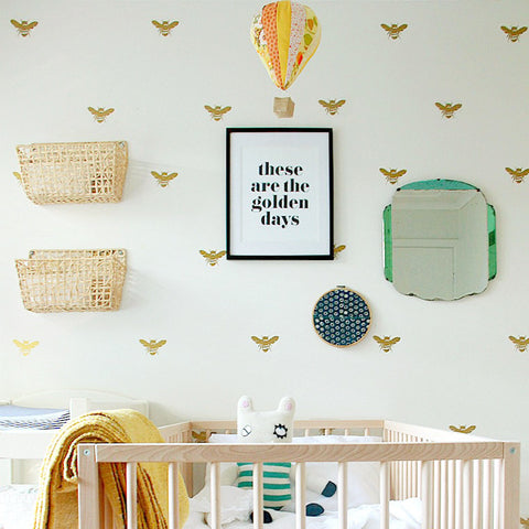 BEE WALL PATTERN DECALS - 30 PACK