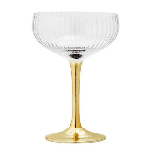 Champagne Glass (Gold Stem)