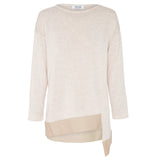 Lisbon Asymmetrical Boat Neck Jumper