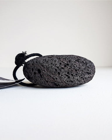 Black Pumice Stone with Stand
