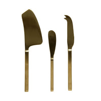 Asta 3pc Cheese Set Brass