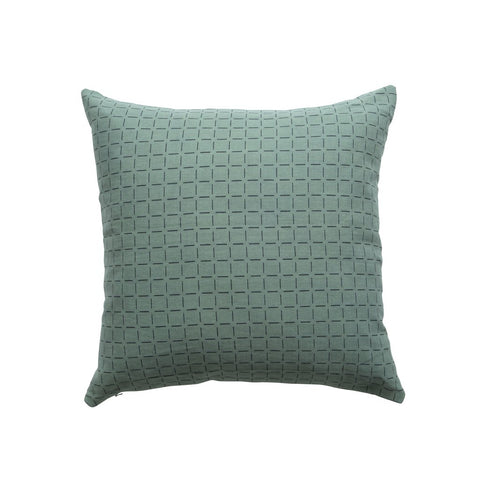 Broken Stitch Cushion Olive