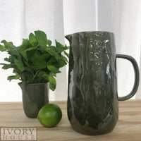 Flax Green Glazed Ceramics