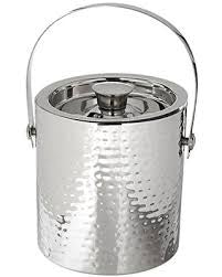 Hammered Steel Ice Bucket