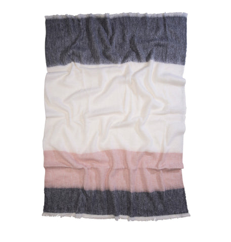 The Picnic Alpaca Blanket Misty Rose
