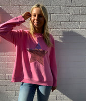 Sophie Moran Sequin Star Sweatshirt
