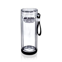 Black Glass Tea Bottle (300ml)