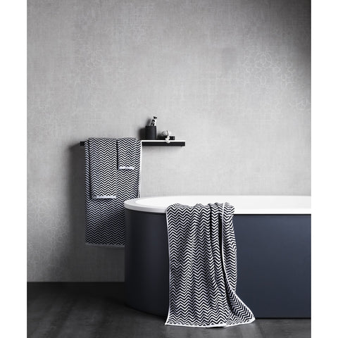Herringbone Black/White Towel