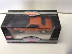 ERTL 1/18 1970 Plymouth AAR Cuda Vitamin C ORANGE American Muscle 7268 70 rc NEW