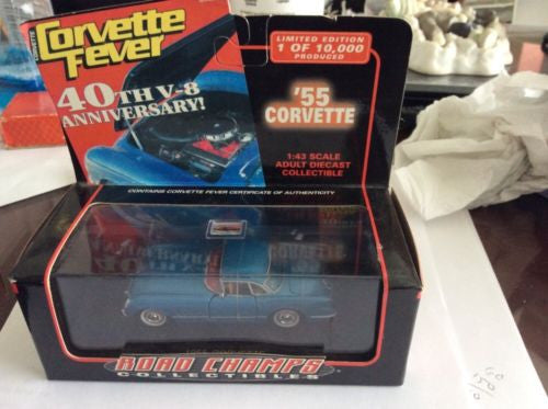 "Road Champions ""Rare"" '55 Blue Chevy Corvette - 1/43 Scale Die Cast"