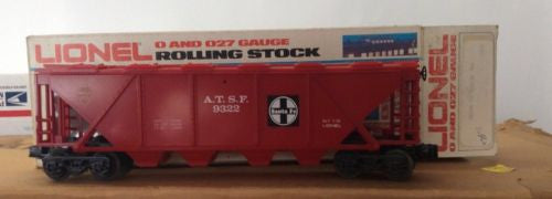 LIONEL TRAINS NO. 9322 FAMOUS AMERICAN RAILROAD SERIES ATSF HOPPER - NIB