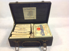Vintage First Aide Kit No. 216 in Green Metal Box