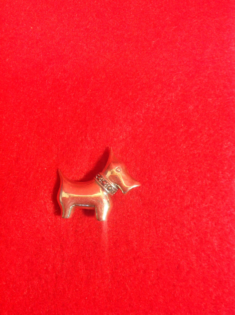 Vintage Sterling Silver and Marcasite Schnauzer Dog Brooch