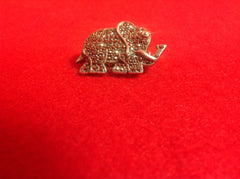Sparkling Sterling Silver and Marcasite Elephant Brooch