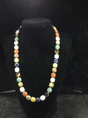 Jay King Mine Finds Multi Gemstone Sterling Silver Necklace and Bracelet Set
