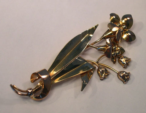 Carl-Art 1940s Gold-Filled Flower Pin