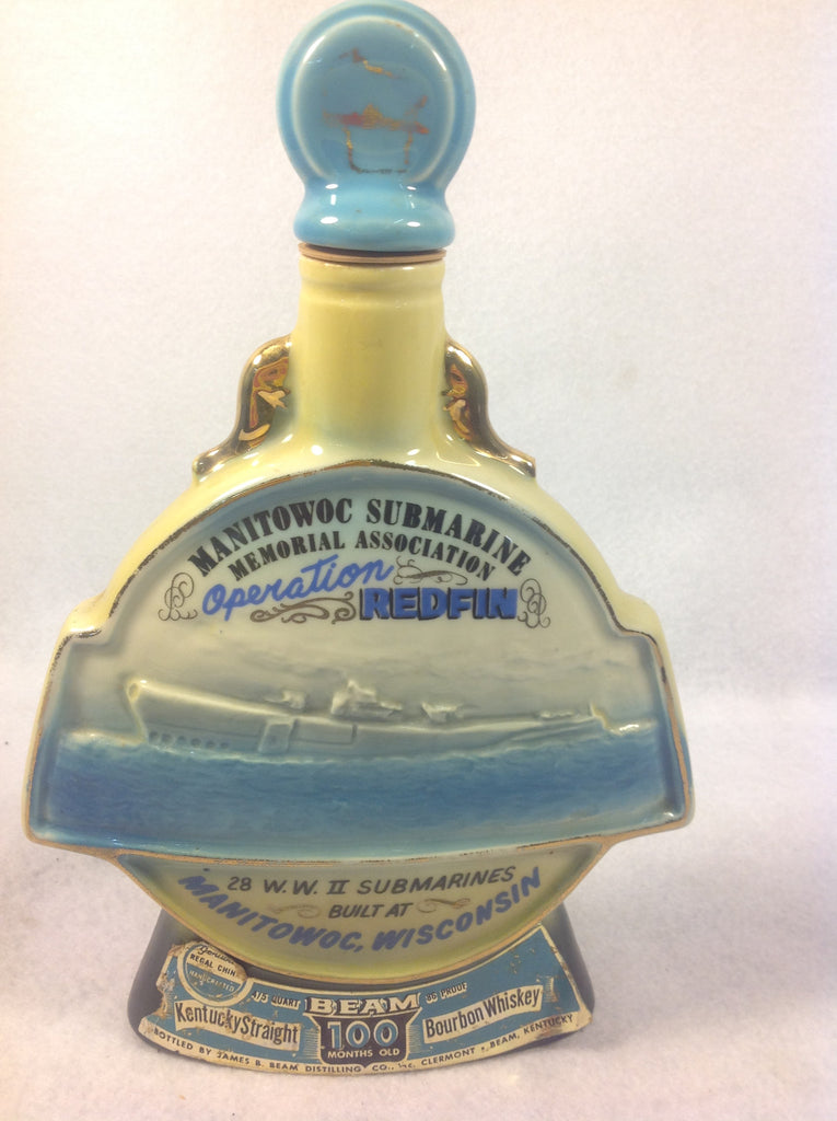 Vintage 1970s Glass Jim Beam Decanter