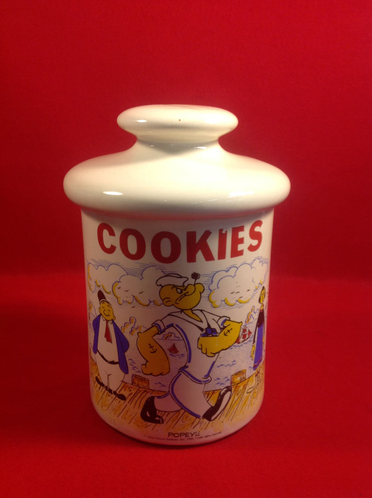 Popye Cylinder McCoy Collectors Edition Cookie Jar