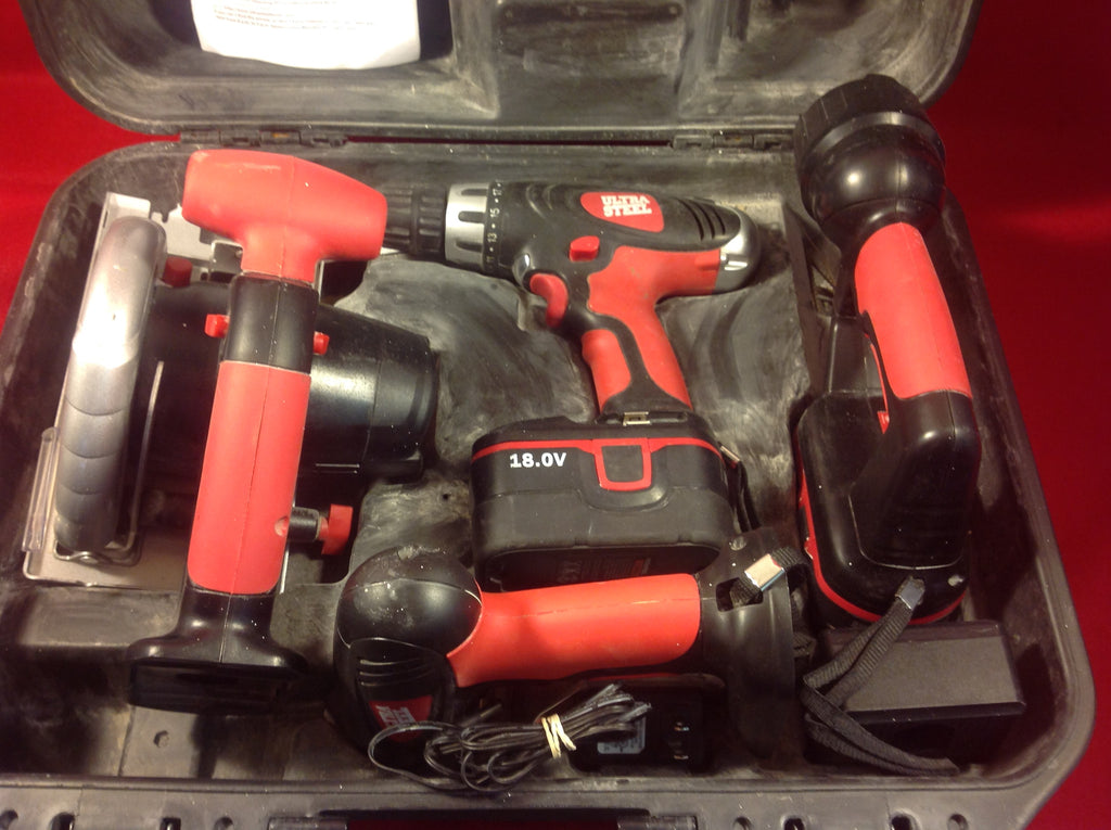 Ultra Steel 4 Piece 18V Cordless Tool Combo
