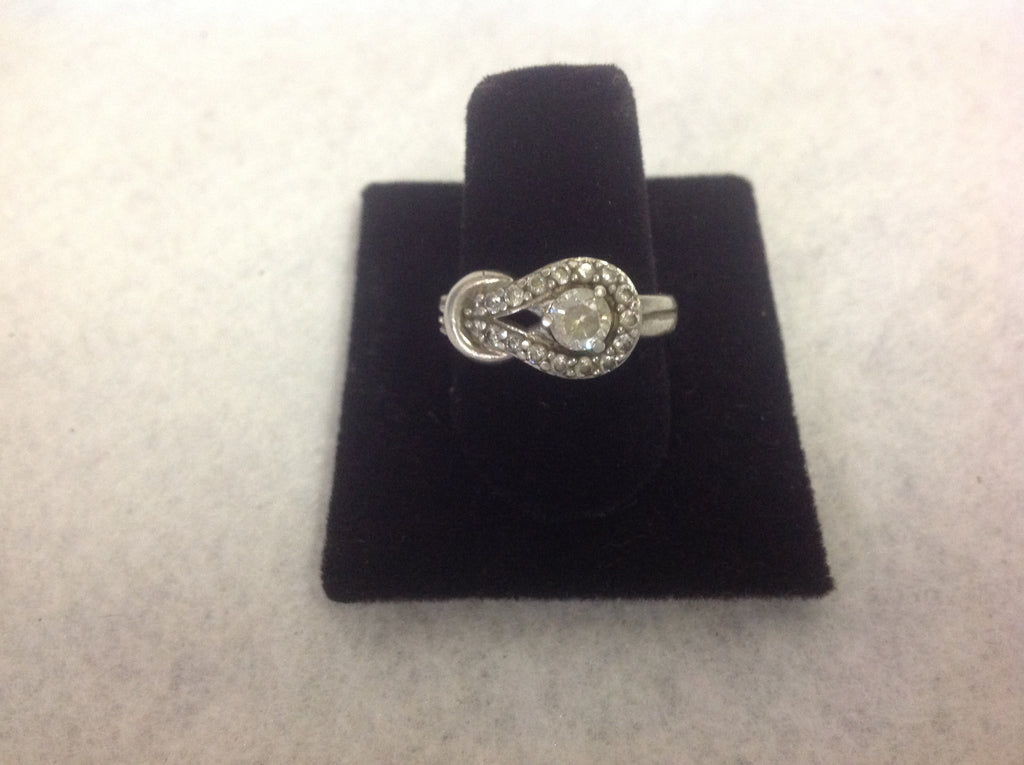 Sterling Silver and CZ Knott Ring