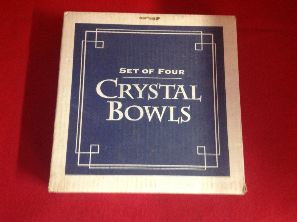 Set of Four Crystal Bowl. Brand New in Box.