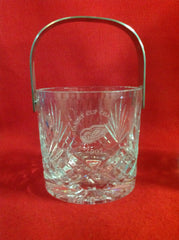 Crystal Ice Bucket and Decanter Engraved 1997 Stanley Cup Champions w Red Wings Symbol