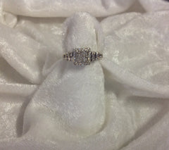 Classic Princess Cut White Gold Diamond Bridal Ring