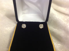 Diamond 14K Gold Round Brilliant Earrings