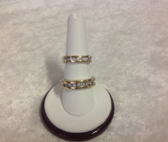 His and Her Matching Diamond and Gold Bridal Set