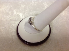 Jane Seymour Open Heart Sterling Silver and Diamond RIng