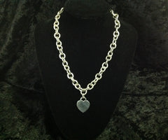 Classic Tiffany & Co Heart Tag Choker 925 Sterling Silver 16""
