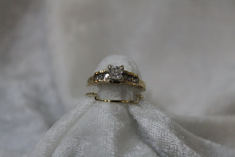 2pc Princess Cut Bridal Set