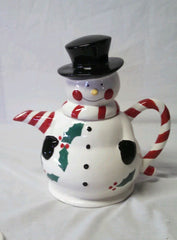 Temp-tations Traditions~5 Piece Snowman Entertaining Set~Tea Pot & Mugs. NIB