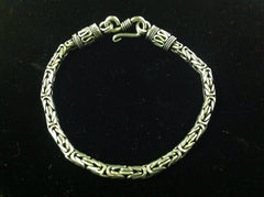 Byzantine Rope Chain and Bracelet in Sterling Silver