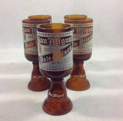 San Miguel Pale Pilsner Hand Crafted Drinking Glasses