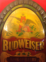 Vintage Large Oval Shape Budweiser King Of Beers On Tap Sign No.013-310: