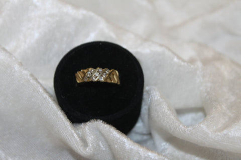 14k Gold Diamond Accent Weave Band .45 ct. tw.