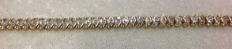 Ladies 10K Yellow Gold and Diamond Bracelet