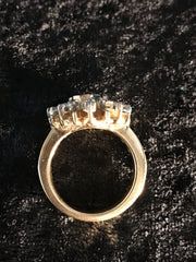 14K Diamond Sunflower Ring
