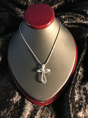 14K Chain & Diamond Cross
