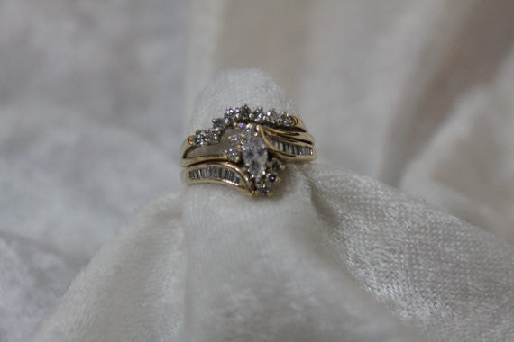 Marquise Diamond Bridal Ring