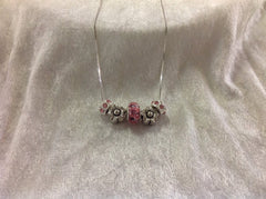 Pretty in Pink Sterling Silver Necklace